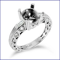 Gregorio Platinum Engagement Diamond Ring R-6241