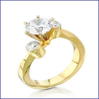 Gregorio 18K Yellow Diamond Engagement ring R-0050