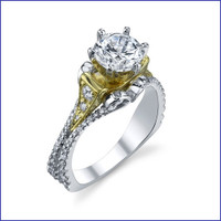 Gregorio 18K WG Diamond Engagement Ring R-518-1