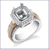 Gregorio 18K WG Diamond Engagement Ring MTR-326