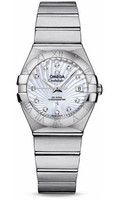 Omega Constellation Co-Axial 27 mm Brushed SS 123.10.27.20.55.001