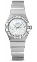Omega Constellation Co-Axial 27 mm Brushed SS 123.15.27.20.05.001
