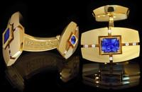 Mousson Atelier Mens Sapphire & Diamond Cufflinks C0071-0/4