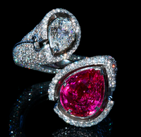 """Mousson Atelier Hi Jewellery Collection """"Pink Queen"""" Gold Pink Sapphire & Diamond Ring R0016-1/1"""
