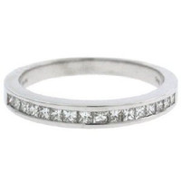 0.35ct-vs Princess Cut Band