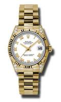 Rolex- Datejust 31mm President YG Fluted Bezel Dia Case 178238WRP