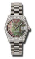 Rolex- Datejust 31mm Gold President WG Dia Bezel Dia Case 178159DKMRP