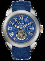 Jacob & Co Palatial Tourbillon Hours & Minutes Titanium Blue Dial Watch 150.520.24.NS.QB.1NS