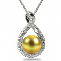 Imperial Golden Pearl Pendant CSWP002/GSS18