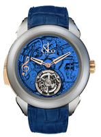 Jacob & Co Palatial Tourbillon Minute Repeater Titanium Blue Dial Watch 150.500.24.NS.OB.1NS