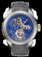Jacob & Co Palatial Tourbillon Jump Hour Manual Titanium Blue Dial Watch 150.510.24.NS.PB.1NS