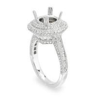 1.65ct Micro-pave Semi-mount Diamond Engagement Ring