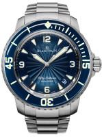 Blancpain 50 Fathoms Automatic Blue Steel with Steel Bracelet Watch 5015D-1140-71