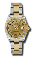 Rolex Datejust 31mm Steel & Gold 12 Dia Bezel-Oyster 178313CHCAO
