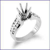 Gregorio 14K White Engagement Diamond Ring R-1312