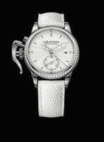 Graham London Chronofighter 1695 Romantic White Diamonds Steel Watch 2CXNS.S04A