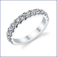 Gregorio 18K WG Diamond Engagement Band R-546B