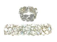 Cultured Pearl & 8.40 ct Diamond In 18K WG Bracelet