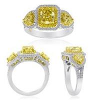 2.72 CT Radiant Fancy Diamond Ring