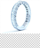1.62 cttw Diamond Ring In 18k White Gold