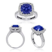 7.51 Ct Tanzanite Diamond Ring