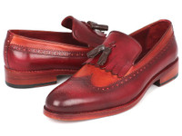 Paul Parkman Kiltie Tassel Loafer Tobacco & Bordeaux (IDKT64CB)