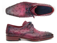 Paul Parkman Lilac Genuine Ostrich Derby Shoes (ID66CC44)