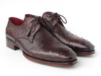 Paul Parkman Men's Brown Genuine Ostrich Derby Shoes (ID33B76-BRW)