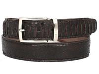 PAUL PARKMAN Men's Brown Genuine Python (snakeskin) Belt (IDB03-BRW)