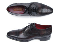 Paul Parkman Men's Captoe Oxfords Bronze & Black Shoes (ID77U844)