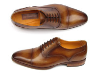 Paul Parkman Men's Captoe Oxfords Brown Leather (ID074-CML)