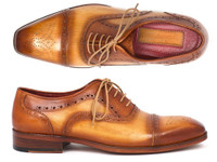 Paul Parkman Men's Captoe Oxfords Tan Color (ID024-TAN)