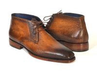 Paul Parkman Men's Chukka Boots Brown & Camel (IDFG55-CML)