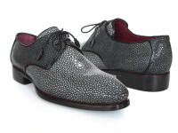 Paul Parkman Men's Full Genuine Stingray Upper Goodyear Welted Derby Shoes For Men (ID84R35)