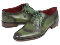 Paul Parkman Men's Green Calfskin Oxfords (IDK78-GRN)
