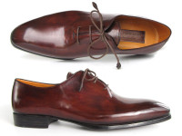 Paul Parkman Men's Oxford Dress Shoes Brown&Bordeaux (ID22T55)