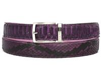 PAUL PARKMAN Men's Purple Genuine Python (snakeskin) Belt (IDB03-PURP)