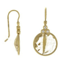 Herco 14k Yellow Gold Round Polki Diamond Earrings
