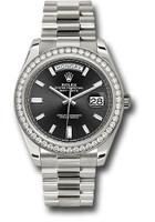 Rolex Watches: Day-Date 40 WG Diamond Bezel 228349RBR bkbdp