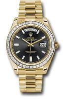 Rolex Watches: Day-Date 40 Yellow Gold -Diamond Bezel 228398TBR bkbdp