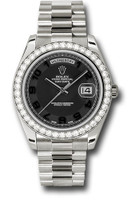 Rolex Watches: Day-Date II President White Gold - Diamond Bezel 218349 bkcap