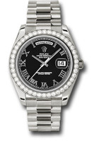 Rolex Watches: Day-Date II President White Gold - Diamond Bezel 218349 bkrp