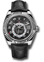 Rolex Watches: Sky-Dweller White Gold 326139 bk