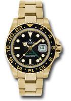 Rolex Watches: GMT-Master II Yellow Gold 116718 bk