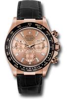 Rolex Watches: Daytona Everose Gold - Leather Strap 116515LN pbd