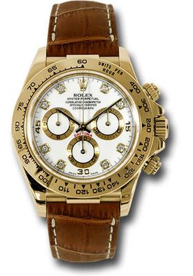 Rolex Watches: Daytona Yellow Gold - Leather Strap 116518 wdbr RW10220