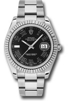 Rolex Watches: Datejust II 41mm Steel and White Gold - Fluted Bezel - Oyster 116334 bkrio