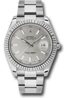 Rolex Watches: Datejust II 41mm Steel and White Gold - Fluted Bezel - Oyster 116334 sio