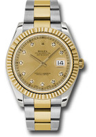 Rolex Watches: Datejust II 41mm Steel and Yellow Gold - Fluted Bezel - Oyster 116333 chdo