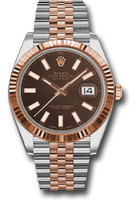 Rolex Watches: Datejust 41 Steel and Pink Gold - Fluted Bezel - Jubilee 126331 choij